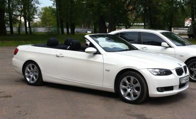 BMW-3 Cabrio белая